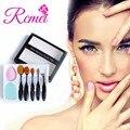 RCMEI 5 UNIDS Maquillaje Pinceles Set + Esponja Puff + Cepillo de Limpieza de Huevo Eyeliner de la Ceja de Sombra de Ojos Blush Pincel Maquiagem
