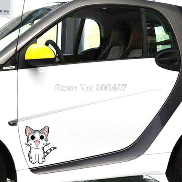 Lovely cat chis sweet home with smile meow car stickers car covers car decals for toyota