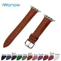 Croco Genuine Leather Watchband For 38mm 42mm IWatch Apple Watch Sport Edittion Band Strap Wrist Belt