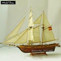 Деревянный корабль комплекты моделей масштаб 1/48 модель корабль поезд Хобби Diy развивающая игрушка деревянная модель 3d лазерная резка Halcon