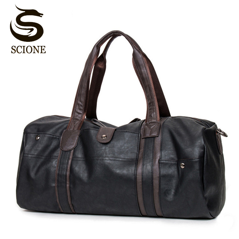 Mode männlich reisetasche männer leder umhängetasche vintage duffle handtasche große kapazität crossbody taschen alltag tote tasche y592