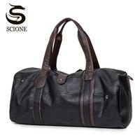 Thời trang Du Lịch Nam túi Người Đàn Ông của Leather Shoulder Bag Vintage Vải Thô Túi Xách Công Suất Lớn Túi Crossbody Cuộc Sống Hàng Ngày Tote Túi Y592