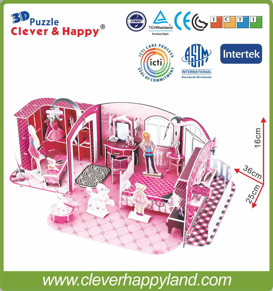 ny smart og lykkelig land 3d puslespill modell Sweet House Of Leer - Puslespill - Bilde 3