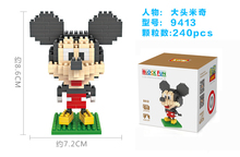 Small particles mini miniature building blocks assembly male and female puzzle Mickey Mouse toys.