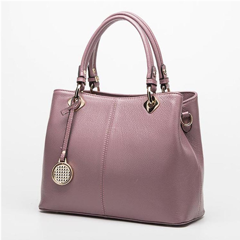 Fashion Real Leather Tote Bag Women Cow Leather Ladies Handbags Women Genuine Leather Handbags High Quality Bags Luxury Brand women leather handbags high quality real cow genuine leather bags new fashion chinese style floral shoulder bag casual tote bag