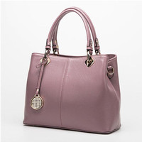 Fashion Real Leather Tote Bag Women Cow Leather Ladies Handbags Women Genuine Leather Handbags High Quality Bags Luxury Brand