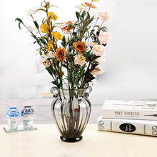 High quality  transparent glass vase hydroponic creative modern color floral arrangement home wedding decoration crafts