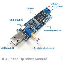 5A DC-DC Adjustable Step-up Boost Module USB Input 5V Convert to 9V12V24V for LED Dimmer Car Vehicle Smartphone Power Supply