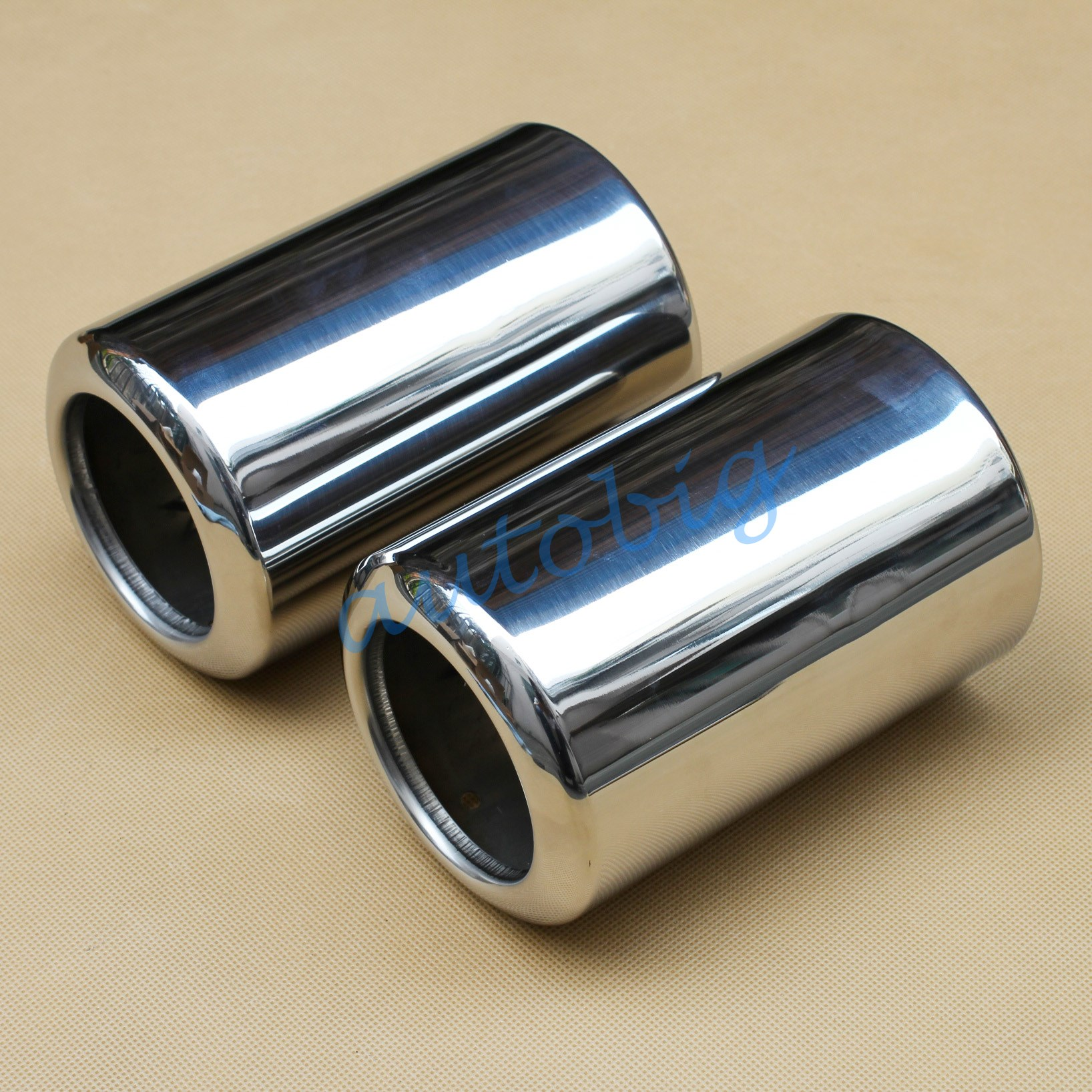 no screw stainless steel muffler exhaust pipe tip for. Black Bedroom Furniture Sets. Home Design Ideas