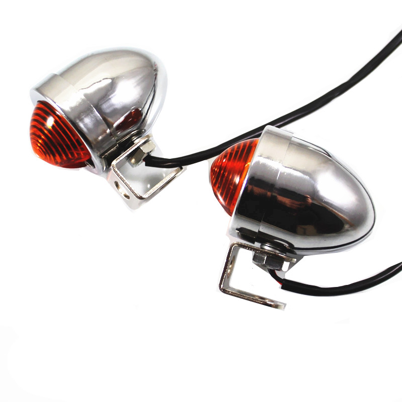 Motorcycle Chrome Bullet Bulb Turn Signal Indicator Light Lamp Motorcycle Chrome Bullet Bulb Turn Signal Indicator Light Lamp