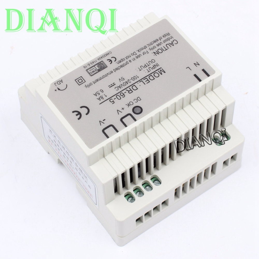 Dianqi Din Rail Power Supply 60w 5v Suply Ac Dc Inverter Circuit Sg3524 230v Invertor Ups 12v Converter Dr 60 5 Good Quality