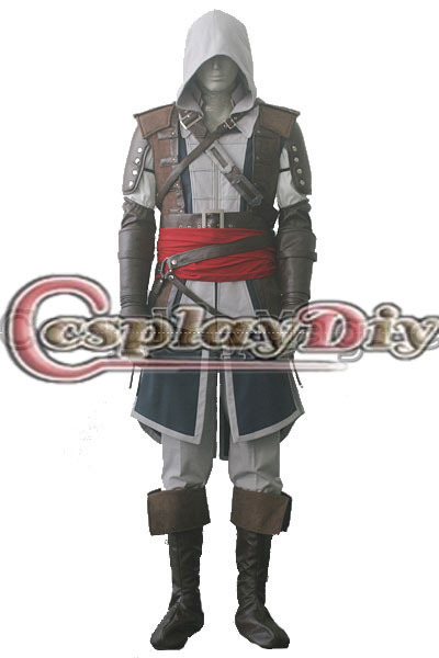 Cosplaydiy Free Shipping Customized Game Cosplay Outfit Black Flag Edward Kenway Cosplay Costume