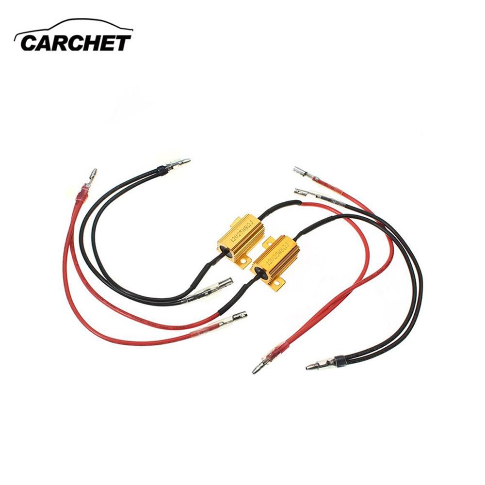 Carchet 2x Универсальный свет светодиодный резистор 12 В 8ohm указатели поворота вспышки Blink контроллер компенсатор автомобиль-детектор Бесплатна...
