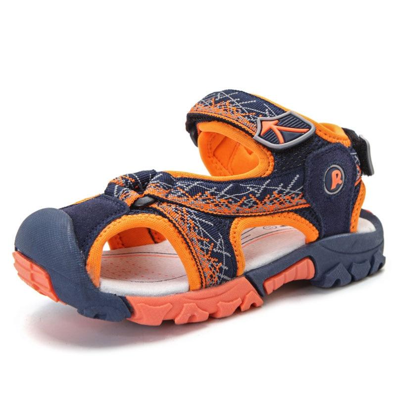 Children boys sandals Summer shoes boys Genuine Leather cut-outs kids canvas rain soft sole sandals breathable flats shoes