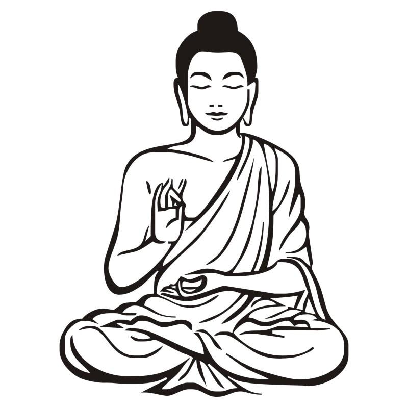 Meditating Buddha Wall Sticker 4