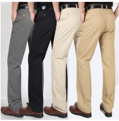 Bông của người đàn ông giản dị quần mùa hè mỏng ống thẳng loose-fitting cao-eo quần cho trung niên YE243