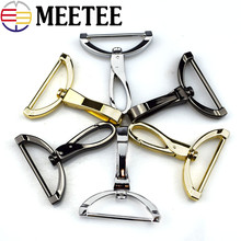 4pcs Meetee 38mm Replacement Luggage Metal Handbags Male Bag Hook Clasp Dog Silver Hardware Accessories Clip Buckles H5-1