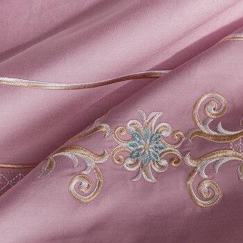 Gartenbettdecke | Schöne Garten 80 S Ägypten Baumwolle Luxus Bettwäsche Set Stickerei Seidige Bettbezug Bett Blatt Kissen Königin König Größe 4 Stücke