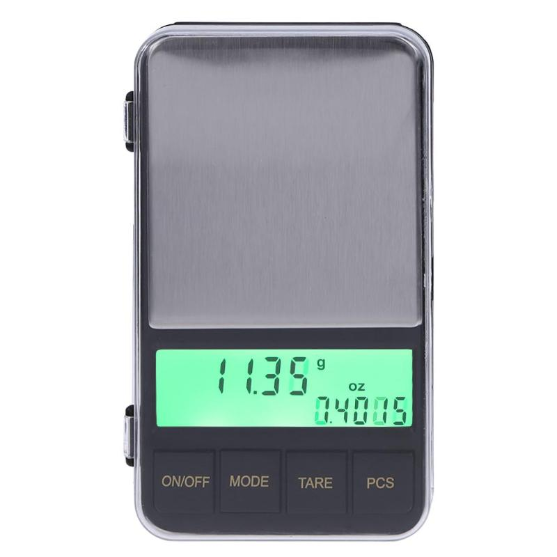 500g/0.01g Mini Pocket Digital Scale LCD Backlight Electronic Jewelry Scales Weighing Tool With Special Weighing Container