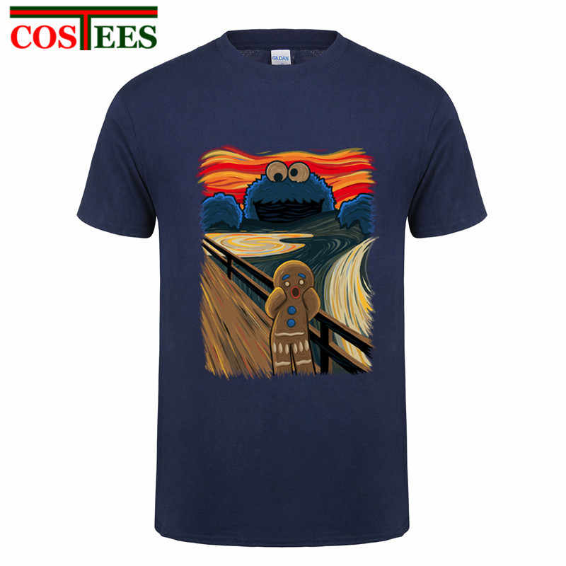 07f5a42c1 2017 New Fashion Cookie Muncher Men T-Shirts Funny Cookie Monster Design  100% Cotton