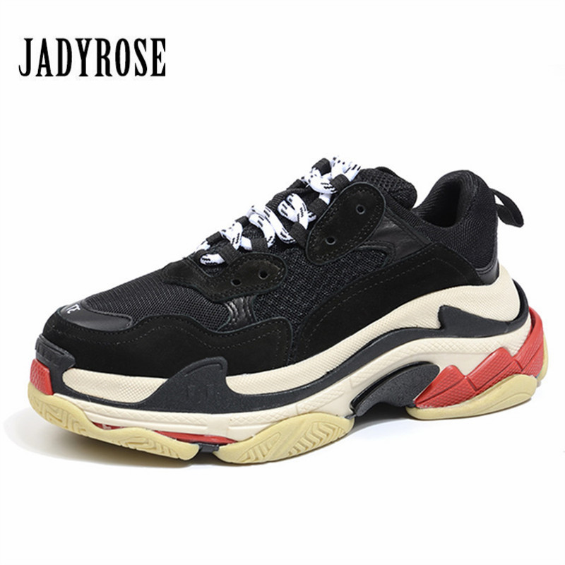 Jady Rose Retro Black Women Sneakers Lace Up Platform Shoes Creepers Female Casual Flats Ladies Shoes Tenis Feminino Espadrilles instantarts casual women s flats shoes emoji face puzzle pattern ladies lace up sneakers female lightweight mess fashion flats