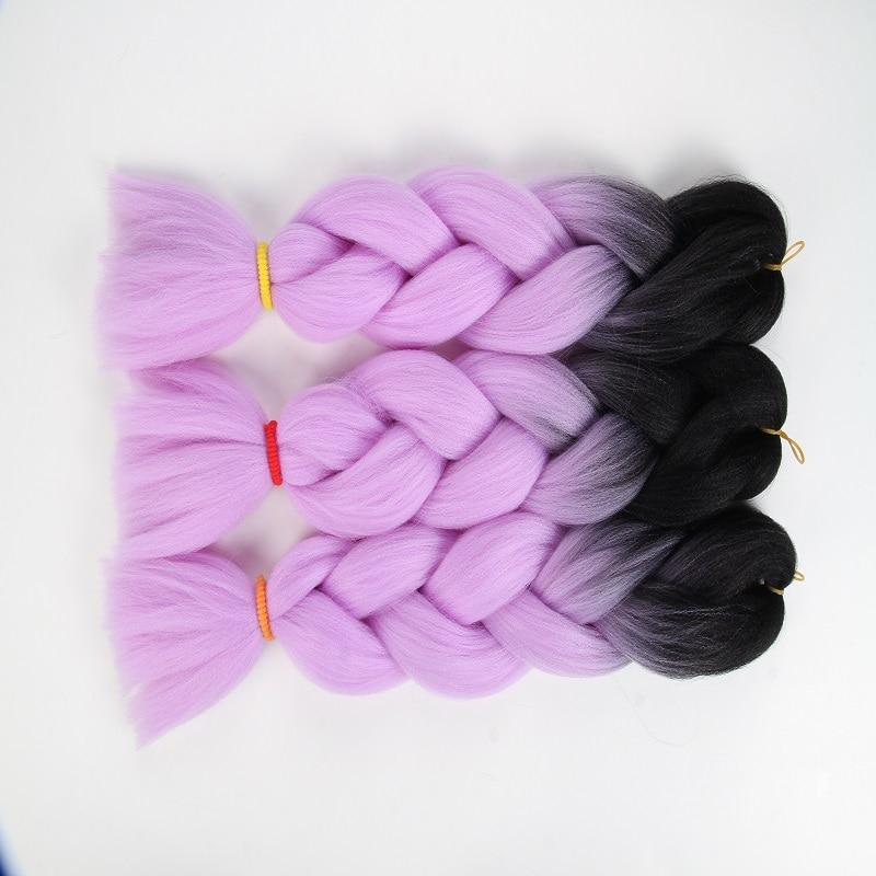 Jumbo Braids Hair Braids Kanekalon Jumbo Treccia Di Capelli 82 Pollice 165g Crochet Trecce Puro Colore Jumbo Sintetico Treccia Dei Capelli Nero