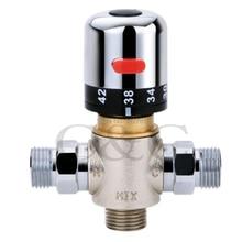Одна Ручка Термостат для ванной кран клапан для хромированной ванной смеситель для душа HS-02