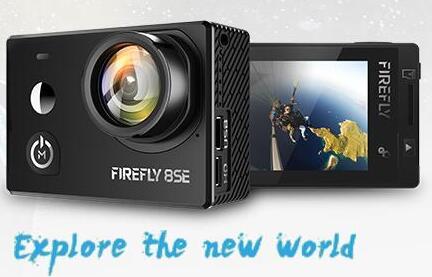 Hawkeye luciole 8SE caméra d'action avec écran tactile 4 K 30fps 170 degrés Super-vue Bluetooth FPV Sport Action Cam