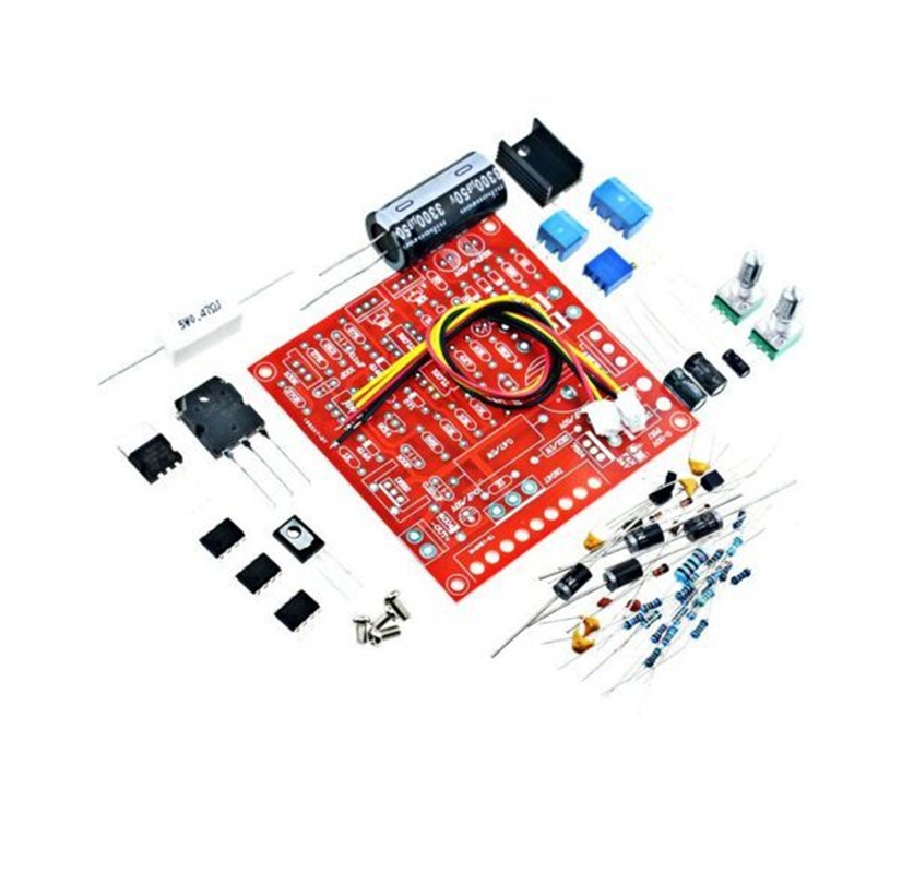 0-30V DC Regulated Power Supply DIY Kit Continuously Adjustable Short Circuit Current Limiting Protection DIY Kit 2mA-3A 1pcs current detection sensor module 50a ac short circuit protection dc5v relay