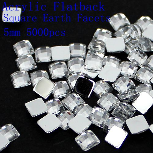 4mm 5mm 6mm 8mm 12mm Acrylic Flat Back Square Earth Facets Crystal Color Acrylic Rhinestone Beads Glue On Acrylic Beads b p r d hell on earth volume 8 lake of fire