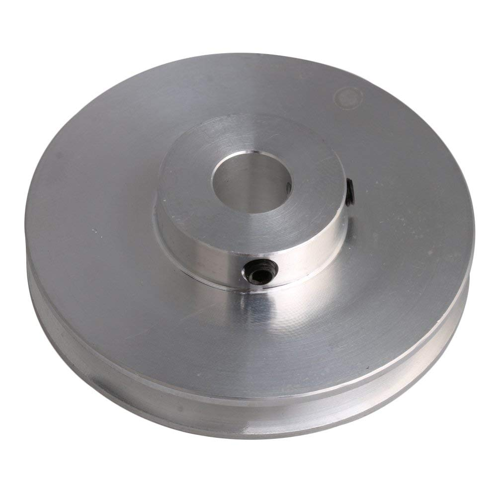 58x16MM Silver Aluminum Alloy Single Groove Fixed Bore Pulley for Motor Shaft 3-5MM PU Round Belts aluminum alloy fixed wing adapter for 3 0mm rotor holder silver 3 pcs