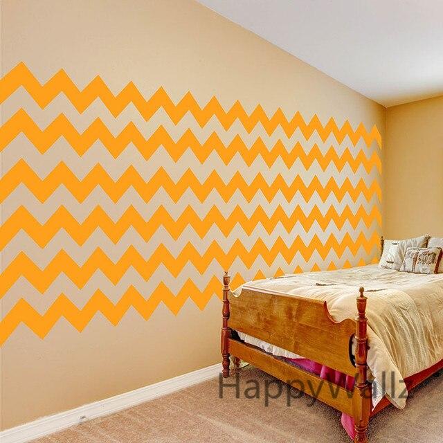 Online Shop Diy Chevron Stripes Wall Stickers Decorative Chevron ...