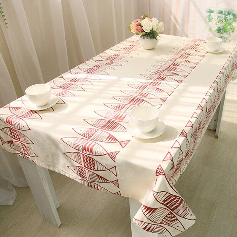 ③Manteles paño blanco de mesa algodón Tapas simple pescado patrón ...