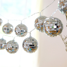 купить 10Led 5cm Fairy Mirror Mosaic Battery Operated String Light 1.5m LED Decoration For Christmas Garland New Year gerlyanda 2018 дешево