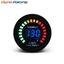 """Dynoracing """" 52 MM Digital 20 LED EGT выхлопных газов temp Gauge Авто Стайлинг EGT Температура манометр автомобильный метр BX101458"""