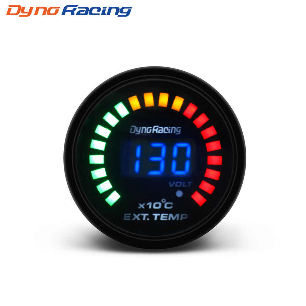 "Dynoracing 2 ""52 Mm Digital 20 LED EGT Exhaust Gas Temp Gauge Auto Mobil Styling EGT Suhu Gauge Mobil meter BX101458"