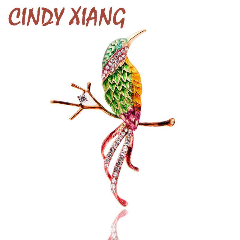 Cindy Xiang Nuova Primavera Uccello Spille per Le Donne Sveglio di Modo Dello Smalto Animale Dei Monili Primavera Accessori di Colore Della Miscela Spilla Spille Regalo