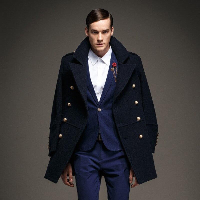 Aliexpress.com : Buy 7 Color 50% Wool Winter Men's Coat Double ...