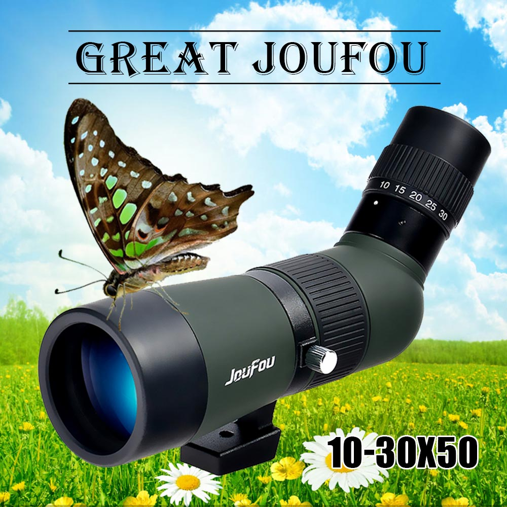 JouFou 10-30X50 HD Zoom High Quality Precision Spotting Scope Monocular Birdwatching Telescope Big Vision with Tripod high quality best price outdoor high precision monocular rangefinder
