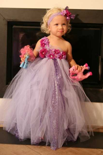 d14504cd524 Little Girls Flower Tutu Dress Kids Fluffy Crochet Glitter Tulle Dress Ball  Gown Strap Dress with