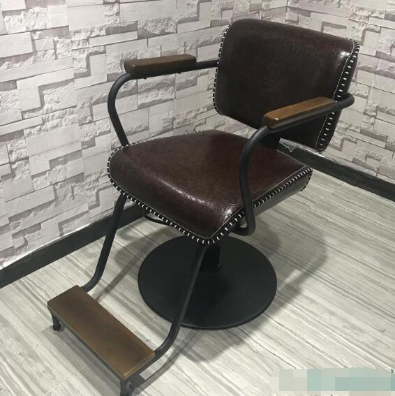 Barber Shop Dedicated Hair Chair High Salon Chair Wood Hot Dyeing Chair5756