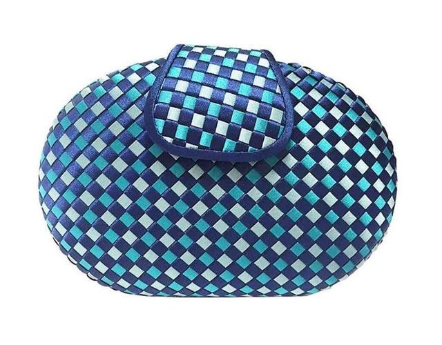 New 2016 Knitting evening bag patchwork women clutch bag party bag wedding bridal day clutch famous brand design chains handbag