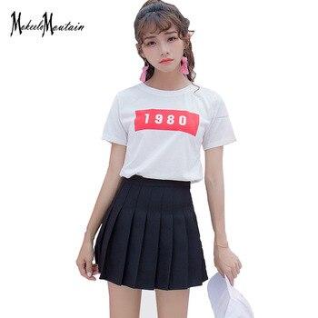 0089ee719c Harajuku Kawaii plisado falda mujeres falda de verano de 2019 Kpop Ulzzang  Color caramelo faldas Sexy colegiala Streetwear ropa de Tumblr