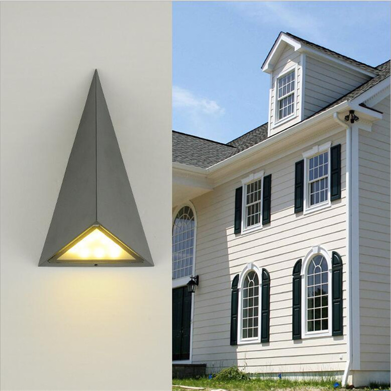 Waterproof Creative Magic 3D Geometric Aluminum Led 18W Wall Lamp for Outdoor Wall Garden Street Entrance Porch Light 1584 modern brief waterproof anticorrosive black aluminum led 2 5w outdoor wall lamp for garden entrance street porch light 1580