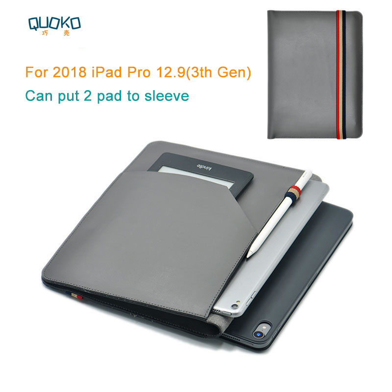 can put 2 pad sleeve pouch cover,microfiber leather tablet sleeve case for 2018