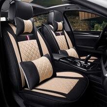 Leinen auto sitz deckt den gesamten sommer kissen paket die neue vier jahreszeiten universal auto sitz abdeckung tuch sitzt set spezielle cush