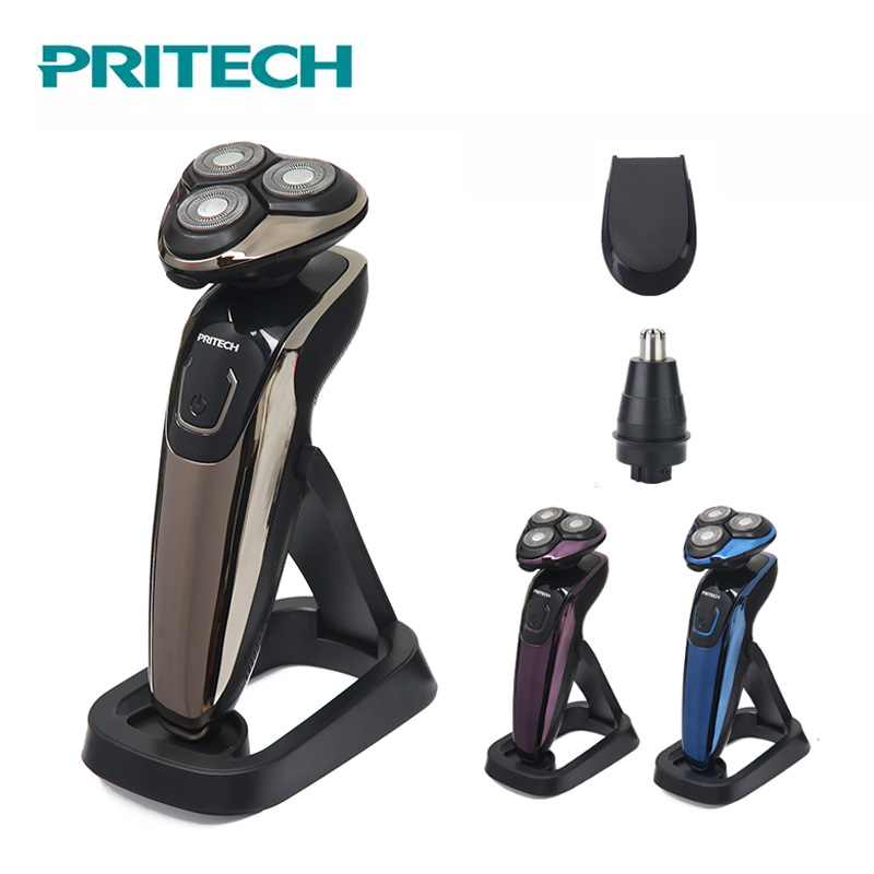 Objective Pritech 3 In 1 Rechargeable Electric Shaving Machine Professional Shaver For Men 3d Floating Beard Trimmer Usb Charging Razor In Pain