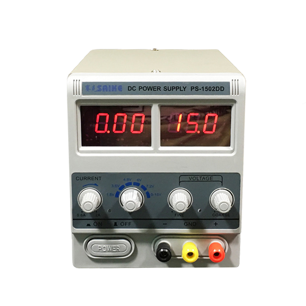 SAIKE <font><b>PS</b></font>-<font><b>1502DD</b></font> 15V2A Digital Display Phone Repair Adjustable DC Regulated Power Supply Multi-Function Switch Power Supply image