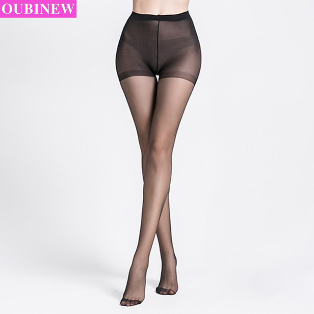 0b1657f5de8 OUBINEW Super Elastic Magical Stockings Women Seamless Sexy Black Thin  Pantyhose Ladies Tights Stocking Sheer Mesh Collant