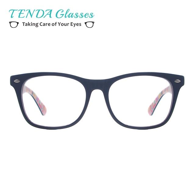 Moda Homens Mulheres Prescrição Óculos De Armação De Acetato Retangular  Óculos De Lentes Miopia óculos de eb7ef67be1